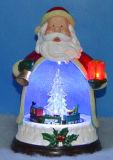 9 '' LED u. musikalischer Weihnachtsmann mit drehendem Baum und Serie nach innen, 8 Weihnachtsliede für Weihnachten als Geschenk