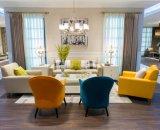 Living Room suave beige sofá de la tela / Presidente