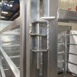 30x60мм 6 направляющих овальной формы оцинкованных портативный стали крупного рогатого скота во дворе панелей