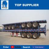 Het Voertuig van de titaan - 40 Ton Aanhangwagen van de Vrachtwagen van 40 voet Flatbed met de Benen van de Steun Jost