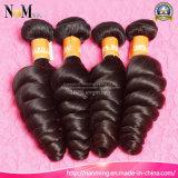 Strongeの織り方および二重Weft自然な毛カラーインドの緩い波の毛