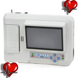 Electrocardiógrafo portátil digital de 6 canales de 12 derivaciones de la máquina de ECG