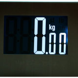 escala personal electrónica en pantalla grande de acero de la habitación de la escala de 200kg Stailess