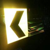Fluo 교통 표지를 위해 노란 고강도 프리즘에게 사려깊은 시트를 깔기