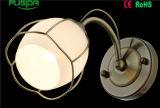 Lampes de mur en verre blanches de chambre à coucher/hôtel de fer de bonne quantité