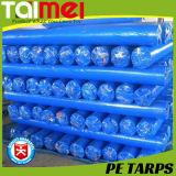 100% tecido de tecido HDPE virgem PE Tarpaulin / Folha de folhas PE