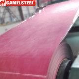 Farbe beschichtete den materiellen Stahlmarmor, der für Dekoration bestimmt war