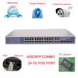 4ギガビットのアップリンクの24のポートPoeスイッチは移植する4つのSFPのファイバーポートおよび4 GEポート(TS3228F)を