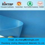 Голубая мембрана PVC водоустойчивая с строительным материалом