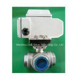 ANSI CF8m de Kogelklep van het Wafeltje Met Elektrische Actuator