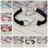 Form-Unbegrenztheits-Seil-Hand-Woven 15 Farben-koreanisches Samt-Armband