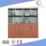高品質の木のファイルキャビネット、灰色のオフィスの本箱(CAS-FC18503)