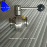Санитарный шариковый клапан места струбцины PTFE SUS316L Tri