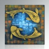 [إك] ودّيّة [هندمد] تجريديّ [فيش ويل بينتينغ] جيّدة تصميم جدار فنية فندق