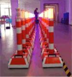 Senken Bx100W imprägniern Portabel warnende Pfosten-Verkehrs-Spalte mit LED-Röhrenblitz-Licht und Lautsprecher