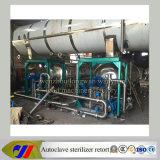 Duplicação do esterilizador de autoclave rotativo do tanque duplo com pulverizador de água quente