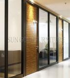 Marco negro de lujo tipo Hotel Cristal divisores de oficina (SZ-WS572)