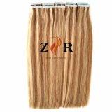 Doble Color Piano dibuja el pelo de Mongolia la cinta en la extensión de cabello humano.