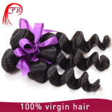 Extensão do cabelo humano Virgin indiana Loose Wave Hair Weft