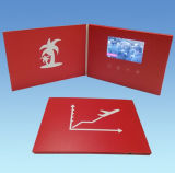 선전용 선물 4.3 인치 LCD 스크린 영상 인사장