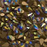 못 예술을%s 주옥 Flatback 모조 다이아몬드가 못 원석 눈물방울 결정에 의하여 돌을 던진다