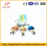 Lovely Cartoon Key Chain, Irregular Key Ring para Promocionais