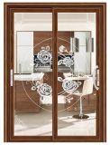 Estándar australiano de doble acristalamiento exterior de la puerta corrediza de aluminio