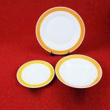 Colorare il piatto di ceramica/articoli per la tavola di figura rotonda dell'orlo