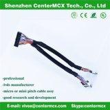 Asambleas de cable de los cables de alambres de la fábrica del cable de cinta de la visualización del LCD
