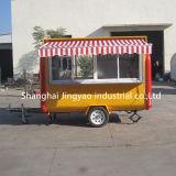 真新しい移動式ケイタリングのコーヒー台所ピザ冷凍食品のフルーツは販売のための米国をトラックで運ぶ
