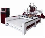 Preiswerter Holzbearbeitung CNC-Fräser/hölzerner schnitzender CNC-Fräser-multi Kopf 3D, der Maschine schnitzt