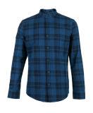 아래로 소년 격자 무늬 면 단추 우연한 셔츠