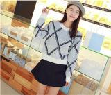 Heiße verkaufende fantastische Entwurfs-lange Hülsen-runde Stutzen-Kaschmir-Dame Sweater im Knit