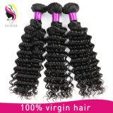 Bon marché de gros Virgin Remy vague profonde brésilien de Tissage de cheveux humains