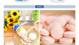 La nutrition santé Ca-Fe-Zn Comprimé à croquer pour le supplément de calcium, fer et zinc
