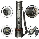 Vollständige Set CREE LED T6 Taschenlampe Zoomable 5 Modus-taktische Angriffs-Kopf-Selbstverteidigung-Fackel