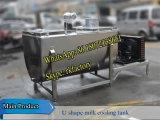 2000liters 수평한 우유 냉각 탱크 (U 모양 우유 냉각기)