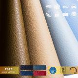 Couro 100% sintético colorido inteiramente conservado em estoque do PVC para couro de sapatas material de couro da sapata dos sacos das sapatas o único
