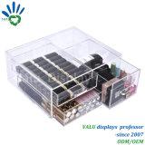 Organizzatore acrilico di trucco con il quadro dei cassetti, visualizzazione cosmetica acrilica della radura