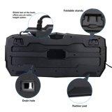 Teclado de Gamer del contraluz del LED con 14 claves de los multimedia del botón (KB-1902EL)