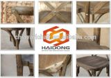 Apilables de madera de haya maciza Cruz Boda silla atrás
