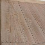 De chêne de colle plancher arrière sec blanc de PVC de tuile de vinyle vers le bas