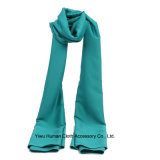 Color solido Polyester Satin Scarf per Lady