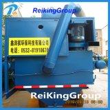 La placa de acero de limpieza de superficies horizontales popular máquina de granallado