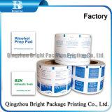 Nonwoven Aad de tejido de algodón, alcohol, envases de papel de aluminio