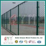 Гальванизированная высокием уровнем безопасности загородка сада PVC загородки звена цепи Coated
