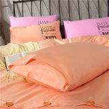 Barato preço impresso de algodão simples sólido quarto conjunto de roupa de cama de Coleta