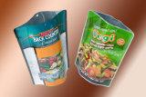 Cuatomized Printing Pet/PE Fastfood- Bag mit Zipper Top