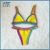 Service personnalisé Mesdames Bikini en deux pièces vêtements de plage