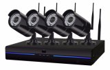 4CH無線WiFi P2p NVR CCTVのシステム・セキュリティのカメラキット